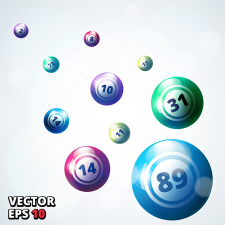 lottery win: Lottery balls background vector illustration