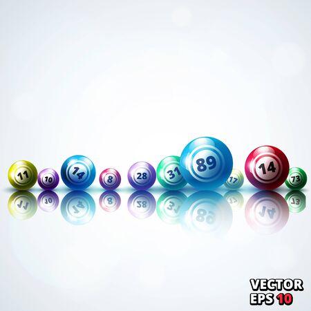 Lottery balls background vector illustration Vector Illustration