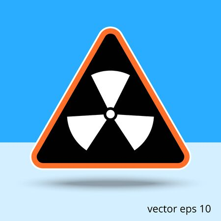 pictogram attention: radiation symbol vector illustration