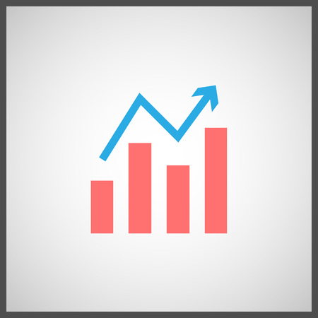 stock price: Business Graph Icon, Stock Icon. Vector