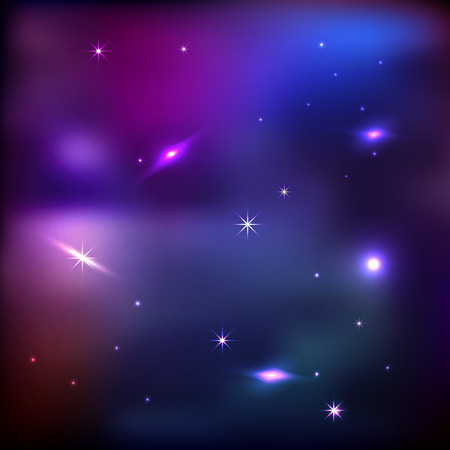 galaxies: Vector Universe Background With Stars And Galaxies Illustration