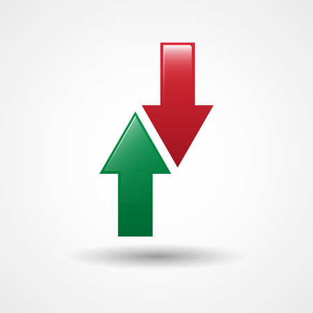 substitute: Up And Down Arrows Icon | Substitute Sign In Football | Soccer Illustration