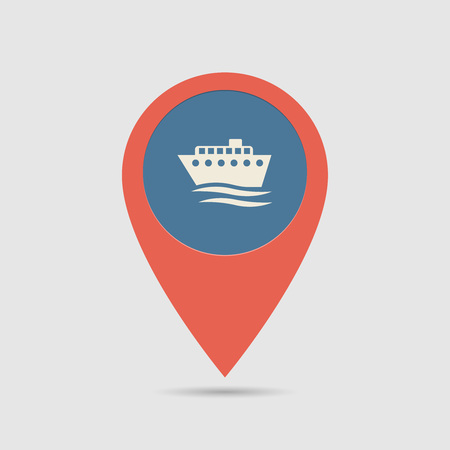 Map Pin For Ship Port Location | Map Marker, Pointer | Ship, Cruizer Icon