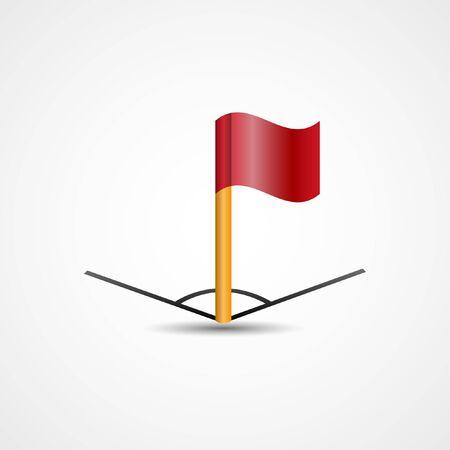 yellow card: Vector Corner Flag | Football | Soccer