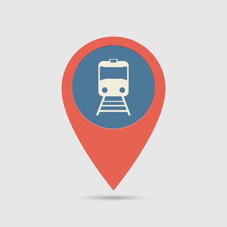 railway station: Map Pin For Railway Station Location | Map Marker, Pointer | Train Icon