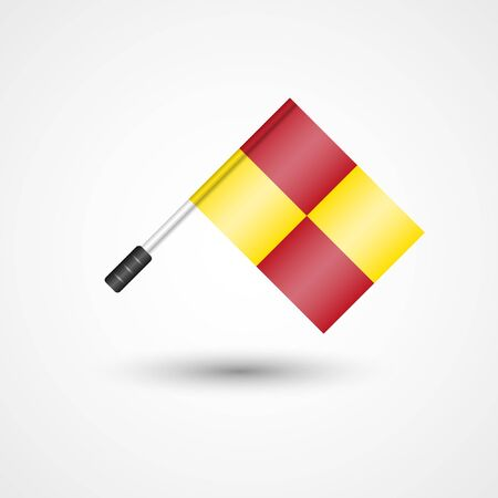 Vector Referee Flag Icon | Offside Line | Football, Soccer Rules Illustration