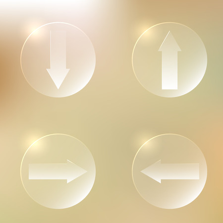 downgrade: Set Of Glassy Arrows Icons | Upload, Download Web Button | Down, Up, Left, Right Arrows