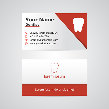 Dental business card template vector illustration royalty free dental business card template vector illustration stock vector 66269590 accmission Choice Image