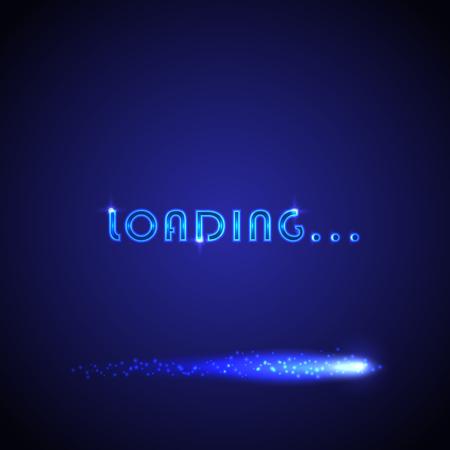 明るい進行ローディングバーとベクトルの背景。ビデオ ゲーム、ソフトウェア、アプリケーション、ウェブサイトの画面を読み込むために使用する