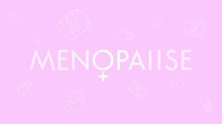 Menopause vector background. Woman health. Medicine
