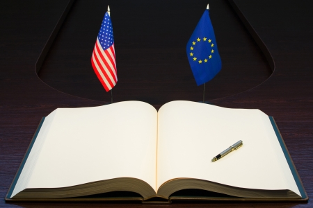 European Union (EU) - USA relations concept.