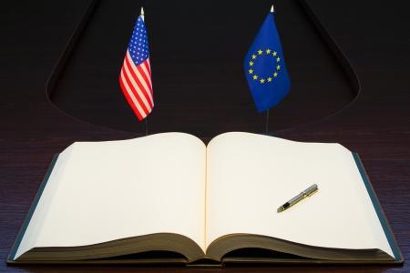European Union (EU) - USA relations concept.