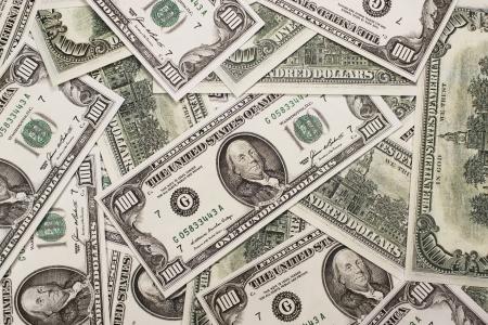 one hundred dollars: One hundred dollars banknotes background