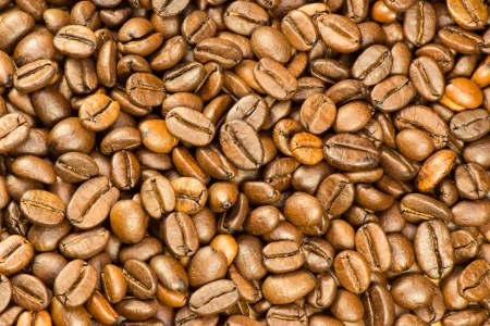 Fine selected roasted coffee beans background