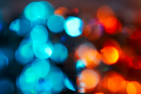 colourful fire: Blue and red bokeh abstract background Stock Photo