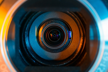 people  camera: Videoc�mara lente de primer plano