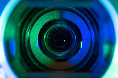 Video camera lens photo