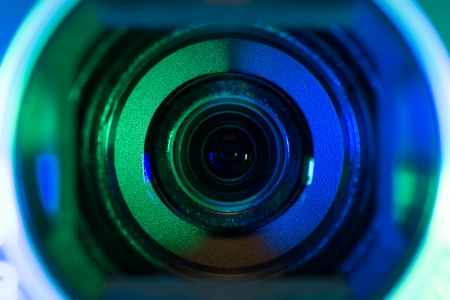 security shutters: Video camera lens