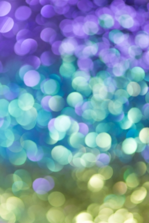 Natural bokeh on colorful gradient background