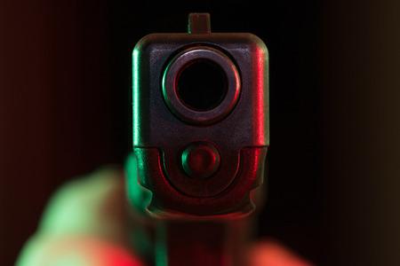 gun barrel: Point blank gun