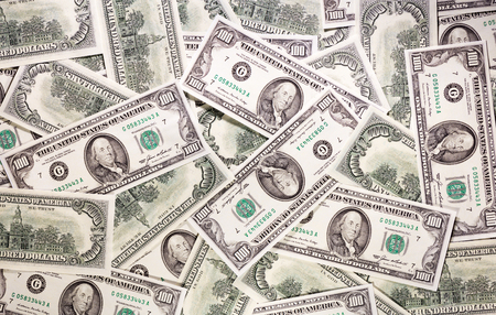 federal states: One hundred dollars federal reserve notes background