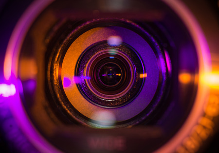 video production: Video camera lens