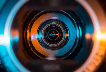 Objectif de caméra vidéo Banque d'images