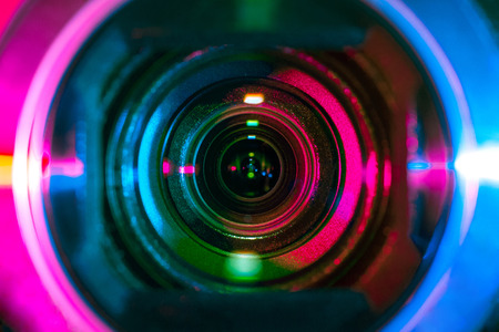 Zbliżenie obiektywu kamery wideo Zdjęcie Seryjne