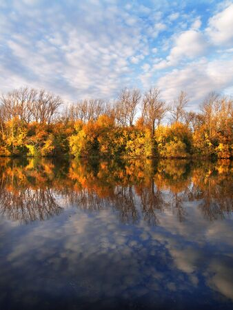 autumn view about river photo