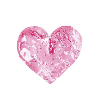 saint valentines: Roseo limpido cuore di Saint san valentino  Archivio Fotografico
