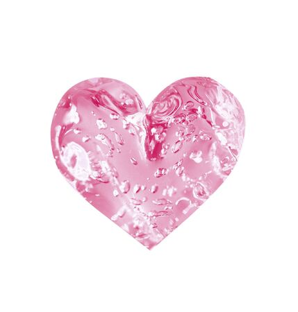 limpid: rosy limpid heart for Saint valentines day Stock Photo