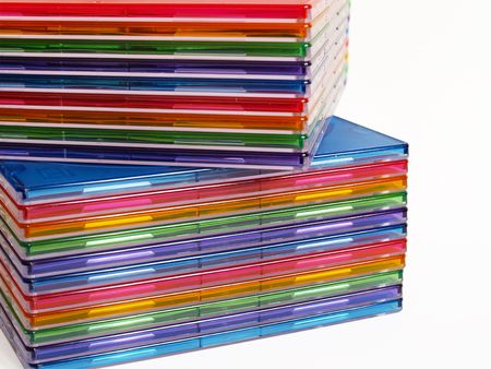 boxes of cd on a white background with clipping path Stock Photo - 800350