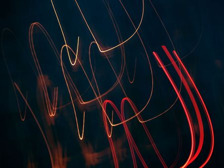 black motion abstraction with red lines photo