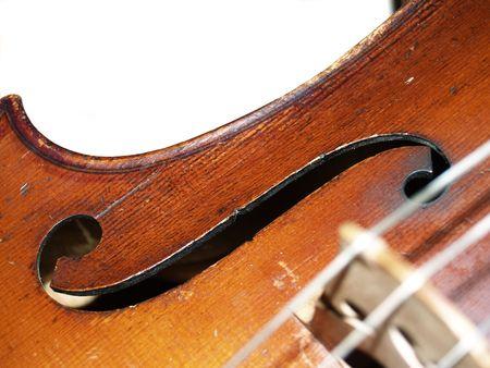 violoncello: The part of old violoncello body