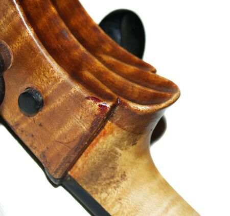 bowing head: The part of old violoncello body