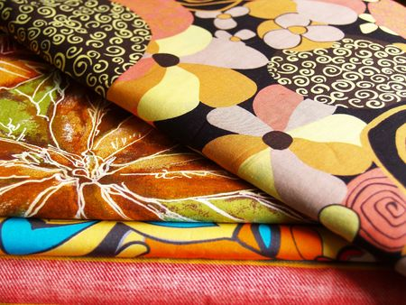 colored print textiles for sewing photo
