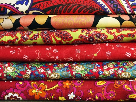 convolute: Bright colored print textiles for sewing and patchwork