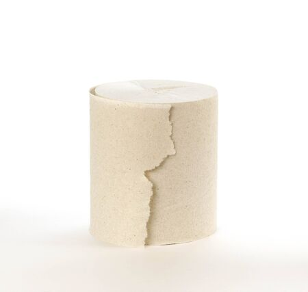 A roll of toilet paper. Close up. Isolated on white background. Stock fotó - 134287737