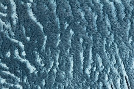 Long blue pile. The texture of the pile. Close up. Stock fotó - 134180792