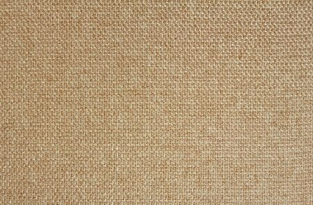 Texture of light beige fabric Matting. Close up.