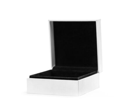 White and black box for jewelry. Close up. Isolated on white background. Stock fotó - 134180820