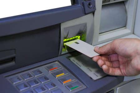 ATM inserting a card Stock fotó