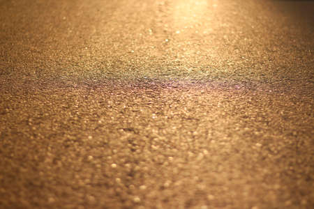 The asphalt at sunset. Orange asphalt Stock fotó