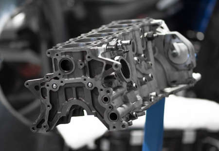 Engine block. Disassembled engine from the car.