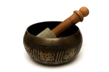 singing bowls: Meditation Bowl on a white background