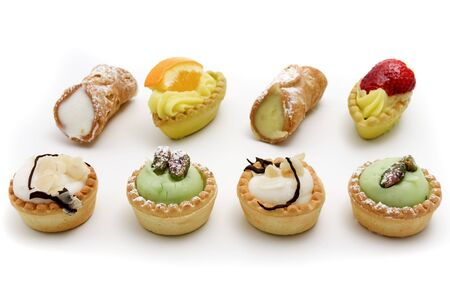 sicilian: Sicilian traditional pastry on a white background Stock Photo