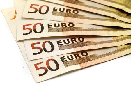 Euro banknotes on a white background Stock Photo - 4433367