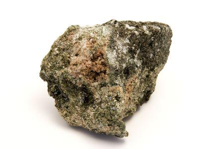 hydroxide: Zinnwaldite on a white background