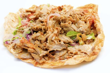 Doner kebab on a white background photo