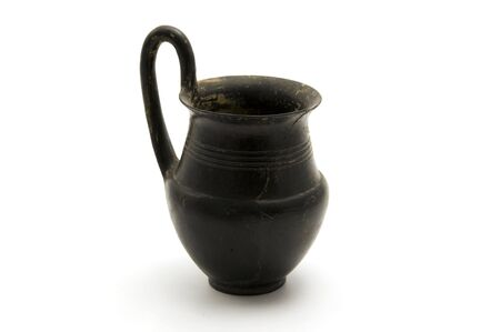 etruscan: Ancient etruscan pottery on a white background Stock Photo